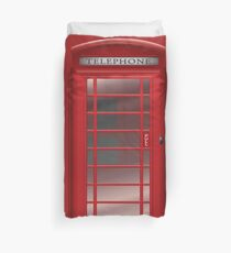 London Red Phone Booth Box  Duvet Cover