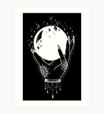 Crystal Ball - White Print Art Print