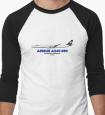 Airbus A340-600 - Deutsche Lufthansa Men's Baseball ¾ T-Shirt
