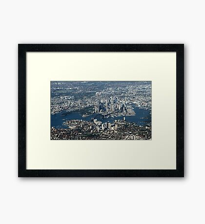 An aerial view of Sydney Framed Print