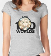 'Figurine' from 'The 100 Worlds. 59' (black logo) Women's Fitted Scoop T-Shirt