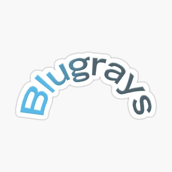The Main Blugrays Logo Sticker