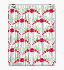 Pretty Red Rose Scalloped Pattern iPad Case/Skin