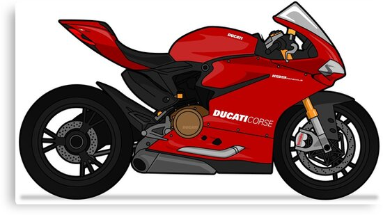 Ducati 1299 Panigale S Red Canvas Prints By Marlonvector Redbubble