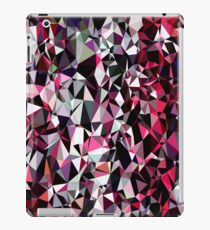 geometric triangle polygon pattern abstract in red pink black iPad Case/Skin