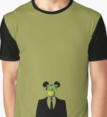 Margritte Banksy Mickey Rat Graphic T-Shirt