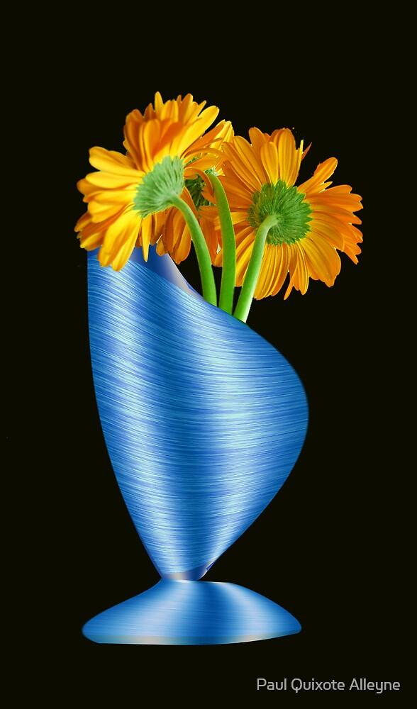 VASE WITH FLOWERS by Paul Quixote Alleyne