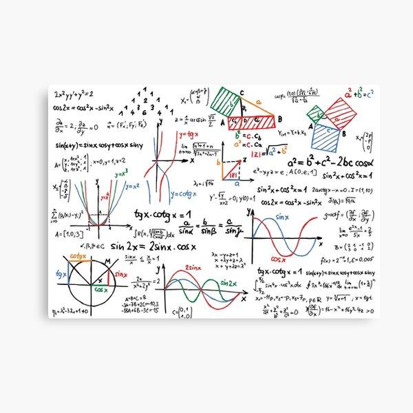 Numéros de formules de mathématiques Impression sur toile