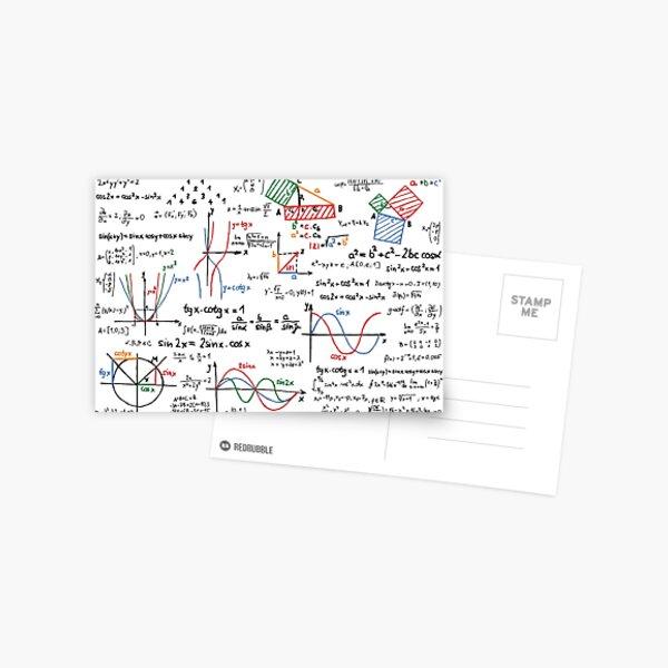 Números de fórmulas matemáticas Postal
