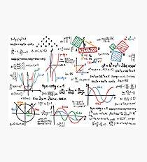 Mathematics Formulas Numbers  Photographic Print