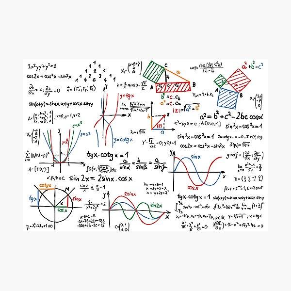 Numéros de formules de mathématiques Impression photo