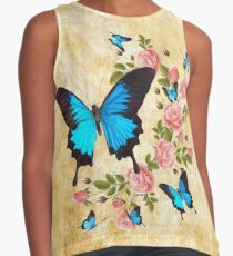 Ulysses Butterflies with Roses Contrast Tank