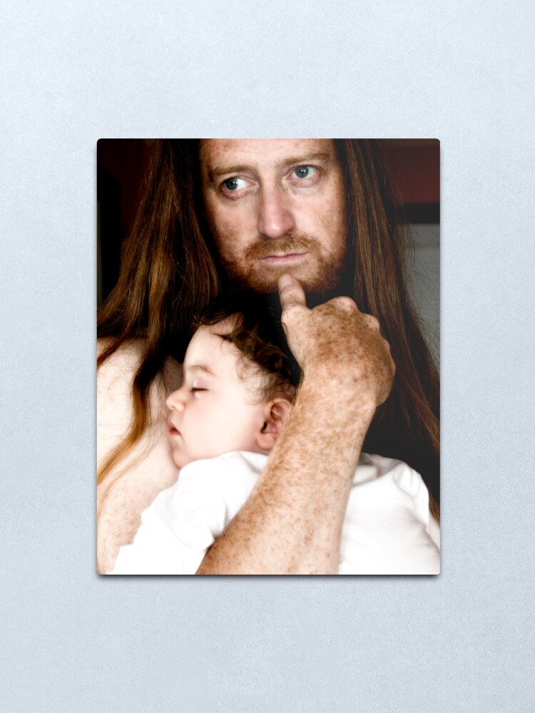 Alternate view of Father & Son Metal Print