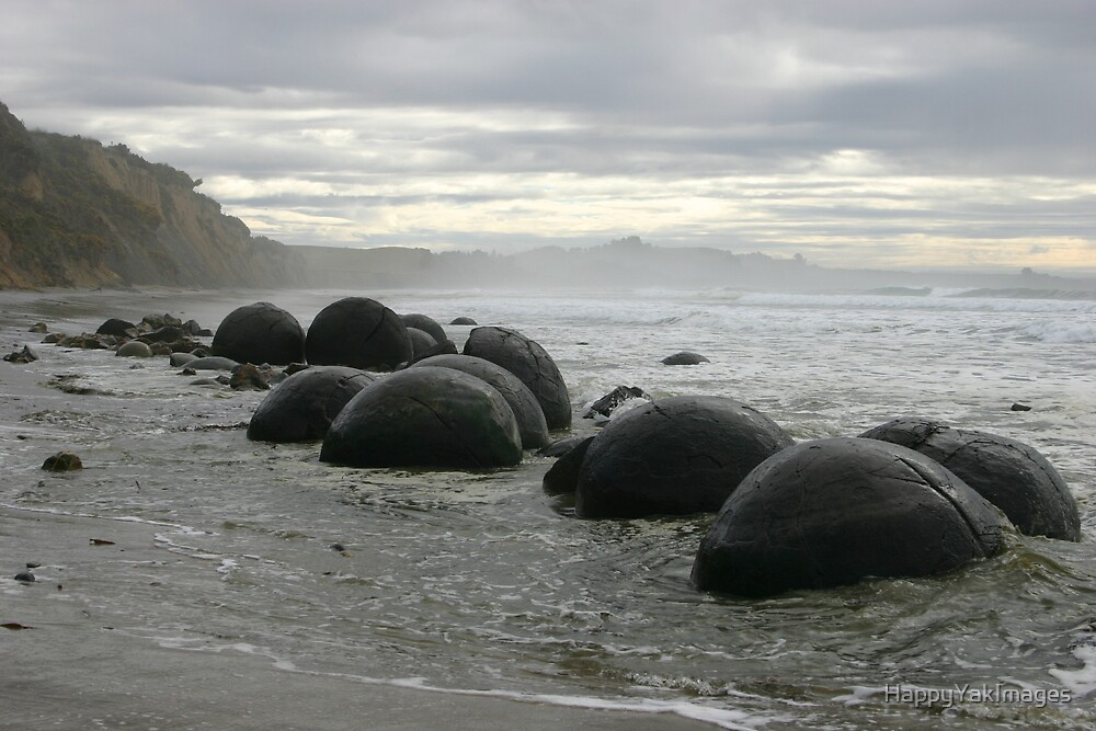 Moeraki Boulders II by HappyYakImages