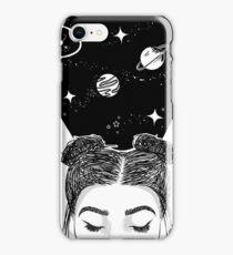 Galaxy Space Girl iPhone Case/Skin