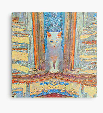 Symmetrical cat Metal Print