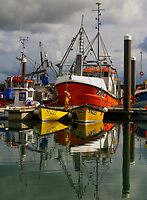 Calm waters, Newlyn harbour by Sue Purveur
