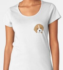 Beagle In Pocket Funny Cute Animal Lover Women's Premium T-Shirt
