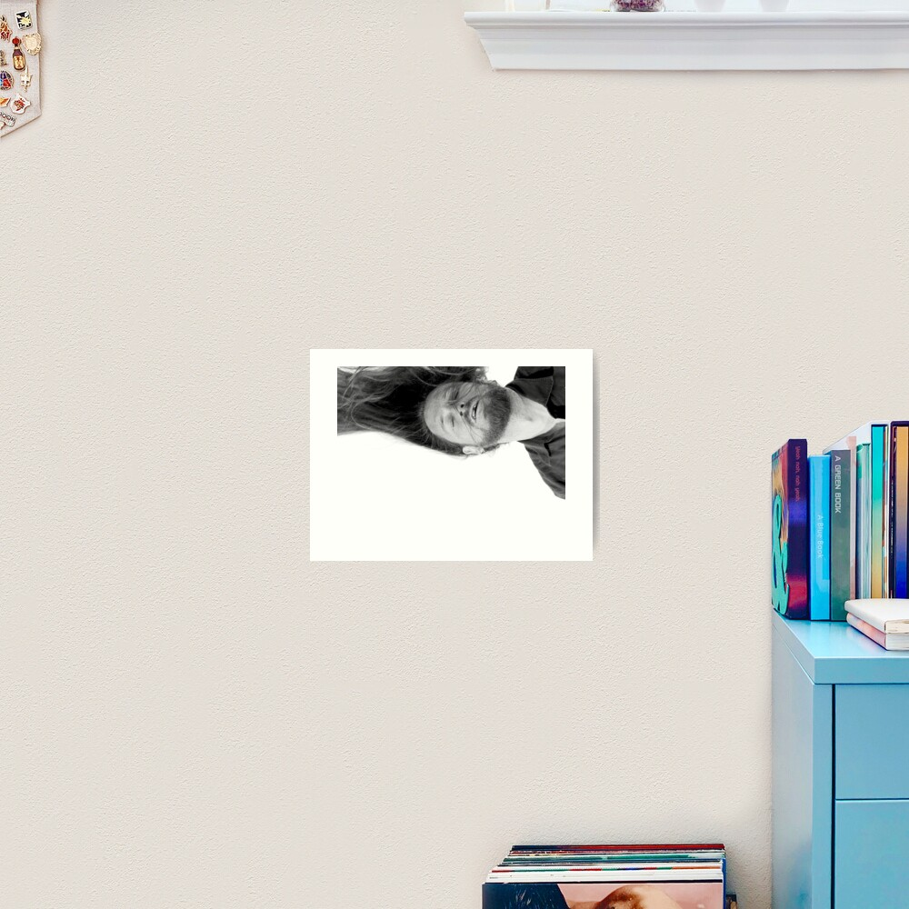 Self Portrait Dreaming of another life which may be a nightmare. Art Print