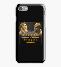 mcgregor vs mayweather iPhone Case/Skin