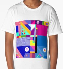 colorful happier life Long T-Shirt