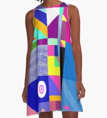 colorful happier life A-Line Dress