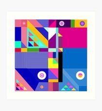 colorful happier life Art Print