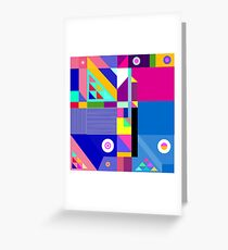 colorful happier life Greeting Card