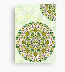 Yellow Flower Circle Canvas Print