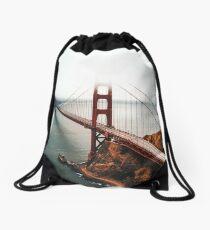 san francisco golden gate Drawstring Bag