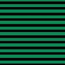 Halloween Stripes - Black and Green - Classic striped pattern by Cecca Designs by Cecca-Designs