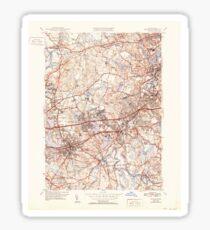 Massachusetts  USGS Historical Topo Map MA Natick 351955 1943 31680 Sticker