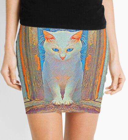 Symmetrical cat Mini Skirt