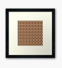 Cool Brown Coffee beans pattern Framed Print