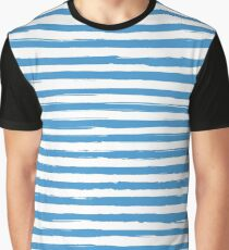 Watercolor nautical stripes pattern Graphic T-Shirt