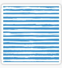 Watercolor nautical stripes pattern Sticker