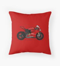 Ducati 1299 Panigale S Red Throw Pillow