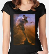 Yellow Galaxy Women's Fitted Scoop T-Shirt