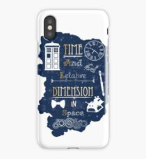 Time and relative dimension in space iPhone Case