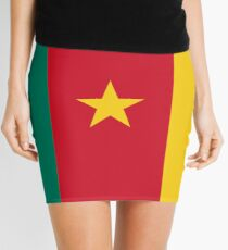 Cameroon Flag Mini Skirt Cameroun Dress Mini Skirt
