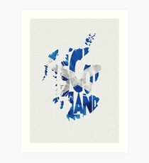 Scotland Typographic Map Flag Art Print