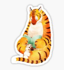 Reading Tiger Sticker