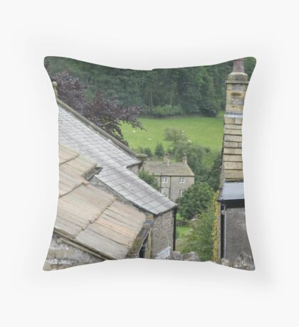 Rooftops at Downham Throw Pillow