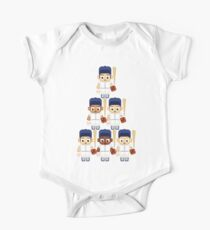 Baseball White and Blue - Super cute sports stars One Piece - Short Sleeve
