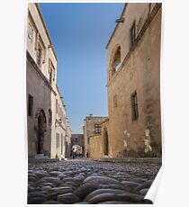 Street in Old Town, Rhodes Poster
