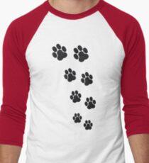Animal Footsteps Men's Baseball ¾ T-Shirt