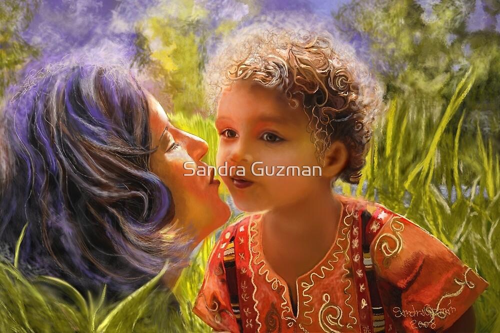 Kiss (paint) by Sandra Guzman
