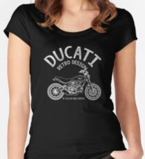 Ducati Vintage Motorcycle Fitted Scoop T-Shirt