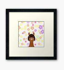 Mama Alpaca Framed Print