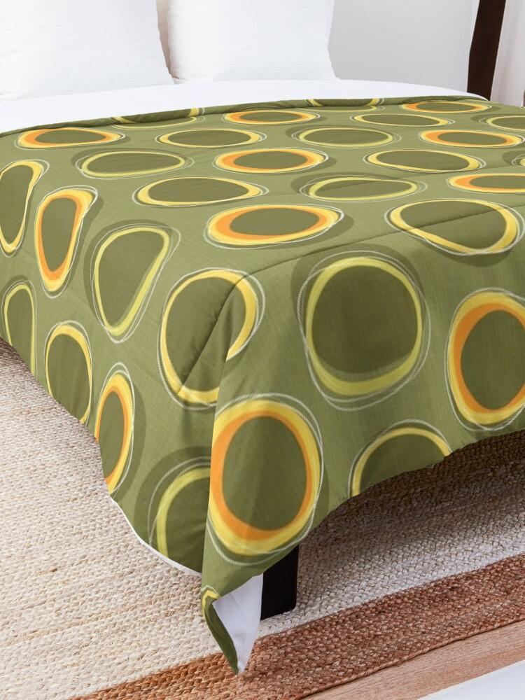 Alternate view of Solar Eclipse MCM Green Comforter